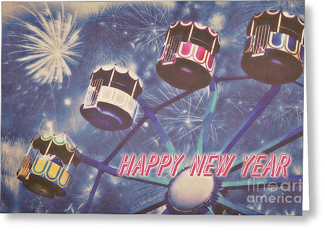 New Year Greeting Cards - Happy New Year Greeting Card by Angela Doelling AD DESIGN Photo and PhotoArt