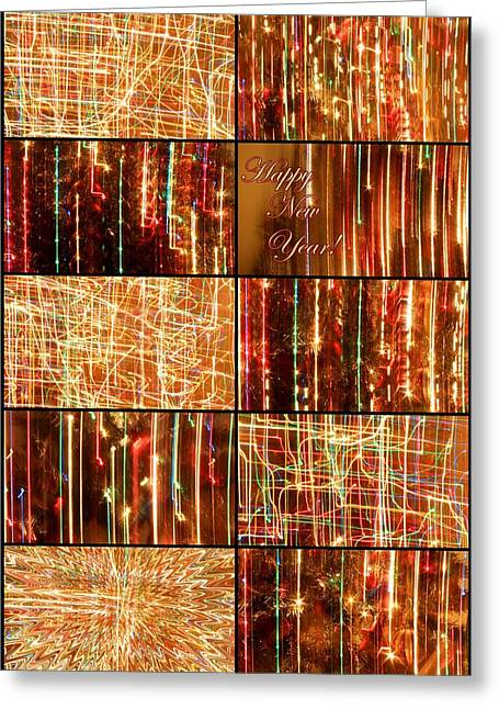 Rainbow Fantasy Art Greeting Card Greeting Cards - Happy New Year Collage  Greeting Card by Julia Fine Art And Photography