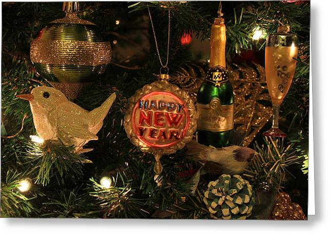 Happy New Year  Greeting Card by Donna Kennedy
