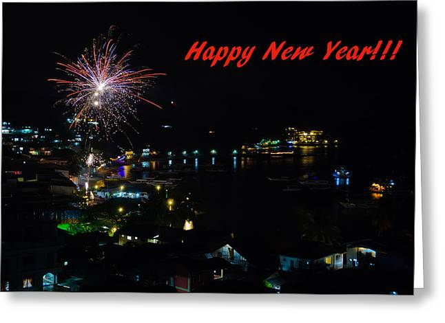 Asien Greeting Cards - Happy New Year Greeting Card - Fireworks Display Greeting Card by Colin Utz