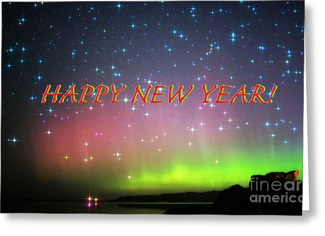 New Year Greeting Cards - Happy New Year Greetings Greeting Card by Charline Xia