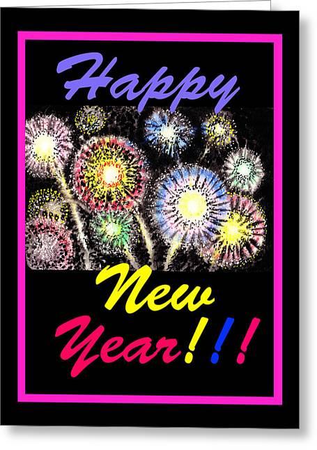 Happy New Year Greeting Card by Irina Sztukowski