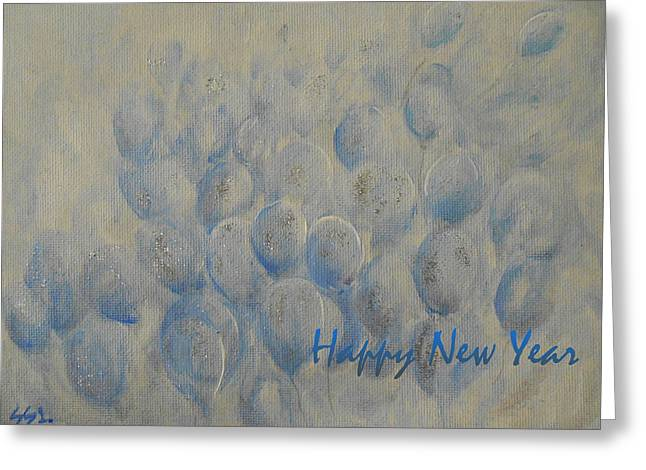 New Greeting Cards - Happy New Year Greeting Card by Jane See