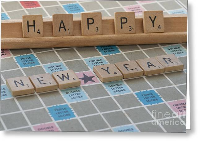 Tile Photographs Greeting Cards - Happy New Year Greeting Card by Juli Scalzi
