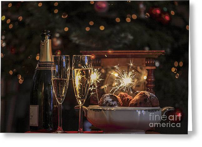 New Year Greeting Cards - Happy new year Greeting Card by Patricia Hofmeester