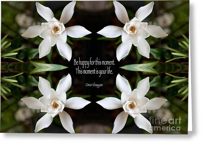 Omar Khayyam Greeting Cards - Happy - Omar Khayyam Quote  Greeting Card by Susan Bloom