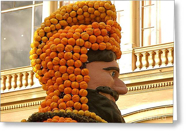 France Greeting Cards - Happy King Orange Head Greeting Card by France  Art