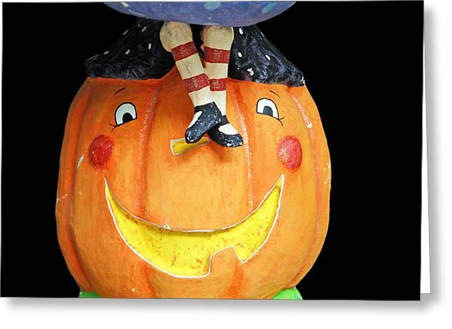 Halloween Greeting Cards - Happy Pumpkin Greeting Card by Aimee L Maher Photography and Art