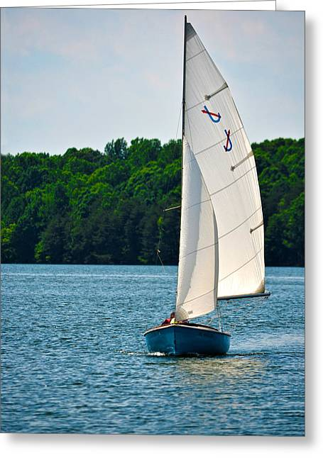 Water Vessels Greeting Cards - Happy Sailing Greeting Card by Sandi OReilly
