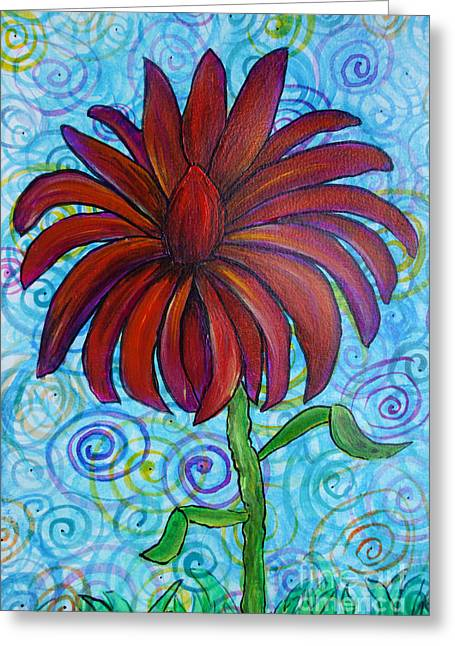 Sunday Stroll Greeting Cards - Happy Spring Flower Greeting Card by Jacqueline Athmann