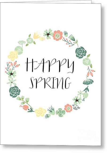 Happy Spring  Greeting Card by Natalie Skywalker