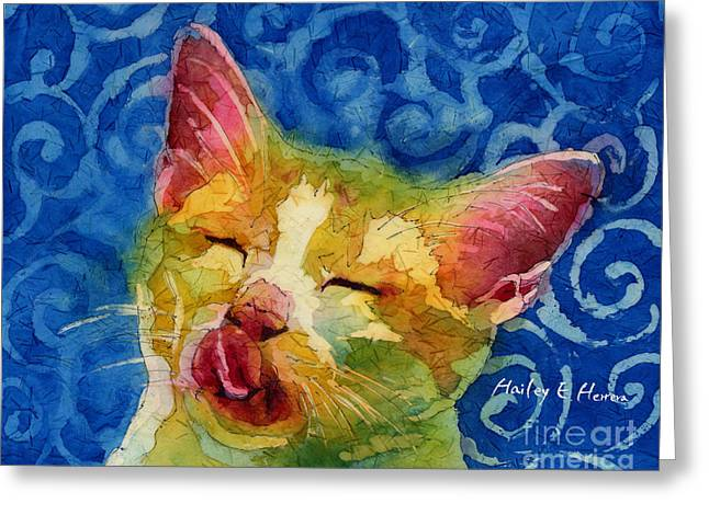 Happy Sunbathing Greeting Card by Hailey E Herrera