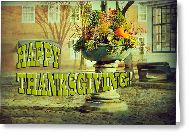 Happy Thanksgiving Card Greeting Card by Marianne Campolongo