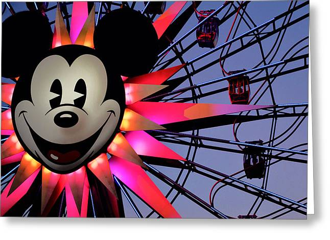 Paradise Pier Attraction Greeting Cards - Happy Times Greeting Card by Camille Lopez
