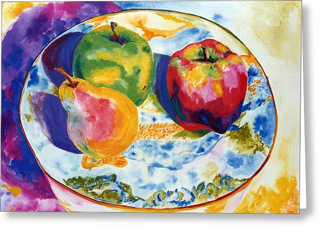 Happy Trio In Chinese Bowl Greeting Card by Lisa Boyd