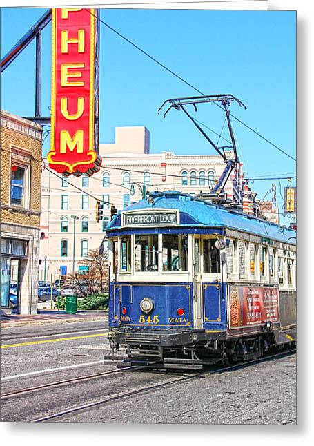 Tn Greeting Cards - Happy Trolley Greeting Card by Suzanne Barber
