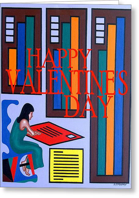 Email Greeting Cards - Happy Valentines Day 33 Greeting Card by Patrick J Murphy