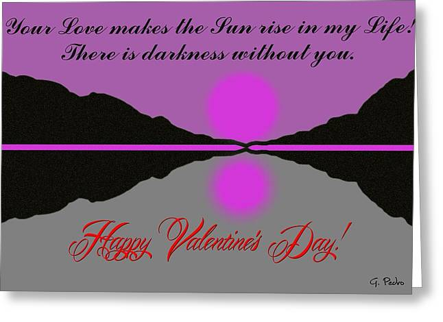 Brook Pastels Greeting Cards - Happy Valentines Day Greeting Card by George Pedro