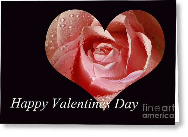 Shelley Myke Greeting Cards - Happy Valentines Day Heart Shaped Rose Greeting Card by Inspired Nature Photography By Shelley Myke