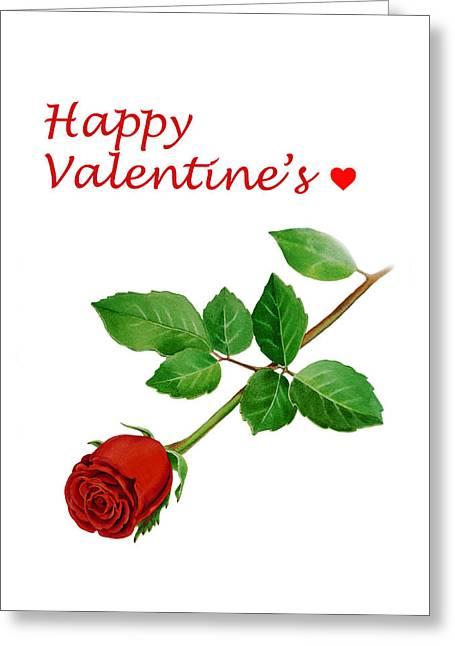 Valentine Greeting Cards - Happy Valentines Greeting Card by Irina Sztukowski