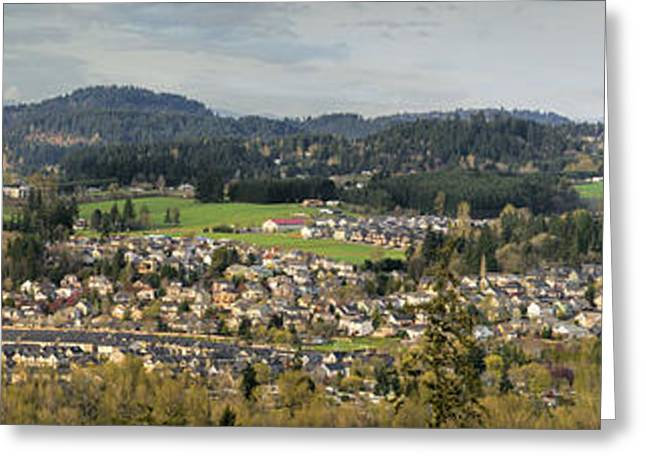 Happy Valley Suburban Panorama Greeting Card by JPLDesigns