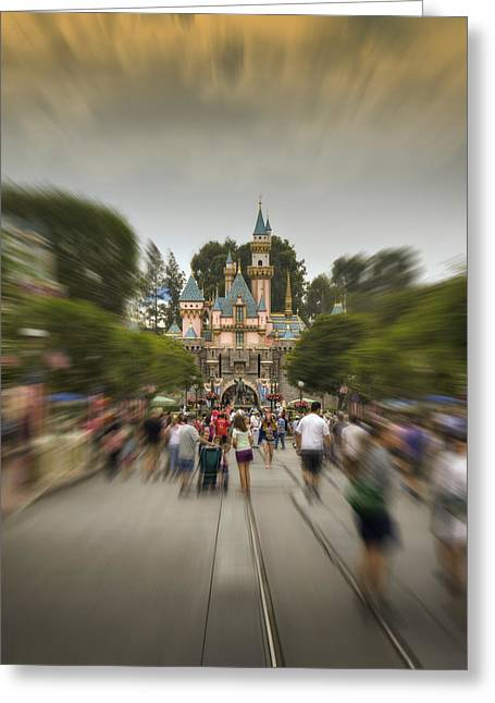 Disneyland Park Greeting Cards - Happy Walk Greeting Card by Ricky Barnard
