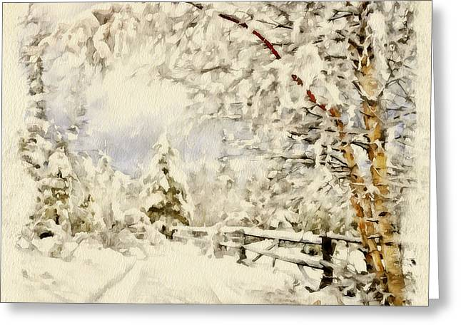 Great Mysteries Greeting Cards - Happy Winter Greeting Card by Yury Malkov