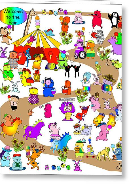 Huckleberry Digital Art Greeting Cards - Happys at the Fair Greeting Card by Chris Morningforest