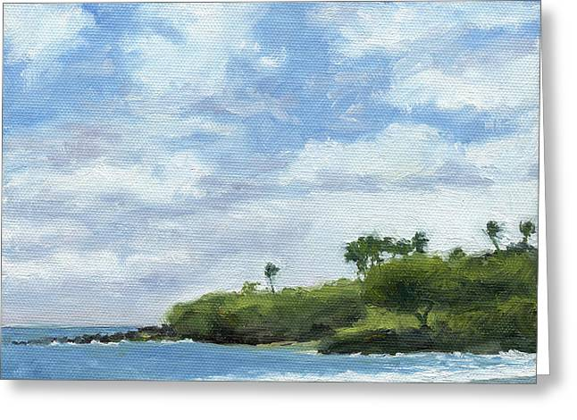 Stacy Vosberg Greeting Cards - Hapuna Beach Greeting Card by Stacy Vosberg