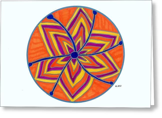 Hara Chakra Flow Greeting Card by Kaia Lyngroth