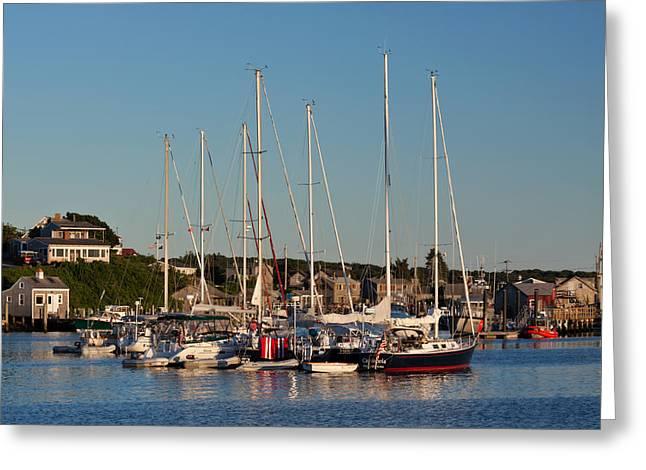 Massachusetts Coast Greeting Cards - Harbor at Marthas Vineyard Greeting Card by Kim Hojnacki