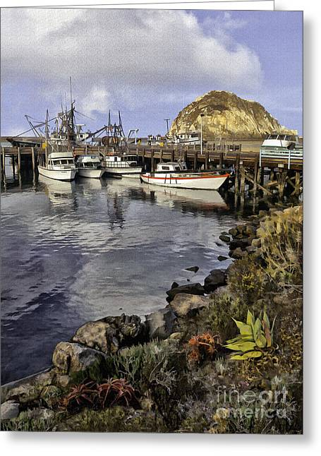 Morro Bay Harbor Greeting Cards - Harbor Beauties II Greeting Card by Sharon Foster