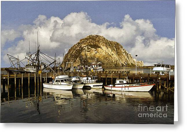 Morro Bay Harbor Greeting Cards - Harbor Beauties Greeting Card by Sharon Foster
