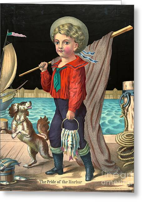 Harbor Boy 1874 Greeting Card by Padre Art