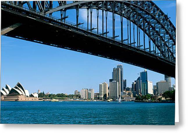 Ironwork Greeting Cards - Harbor Bridge, Sydney, Australia Greeting Card by Panoramic Images