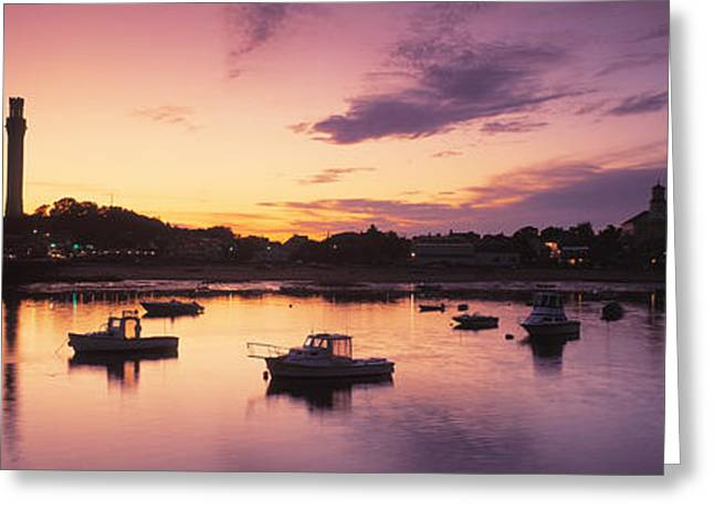 Provincetown Greeting Cards - Harbor Cape Cod Ma Greeting Card by Panoramic Images