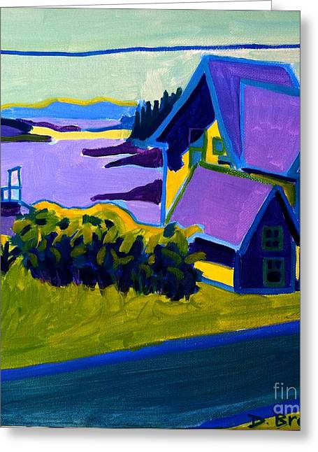 Rural Maine Roads Paintings Greeting Cards - Harbor de Grace Greeting Card by Debra Bretton Robinson