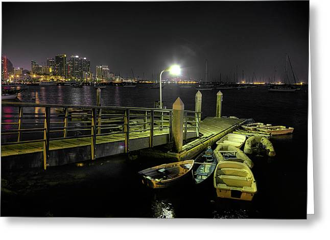 Dinghy Greeting Cards - Harbor Dinghies Greeting Card by Peter Tellone