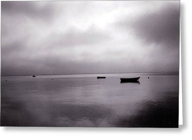 Storm Clouds Cape Cod Greeting Cards - Harbor Grey Greeting Card by Loren McNamara