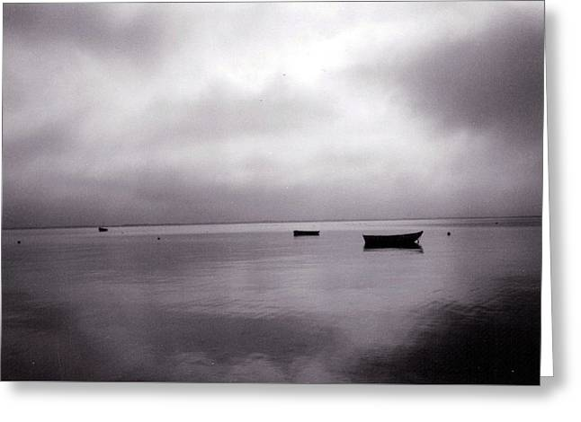 Storm Clouds Cape Cod Greeting Cards - Harbor Grey Greeting Card by Loren McNamara