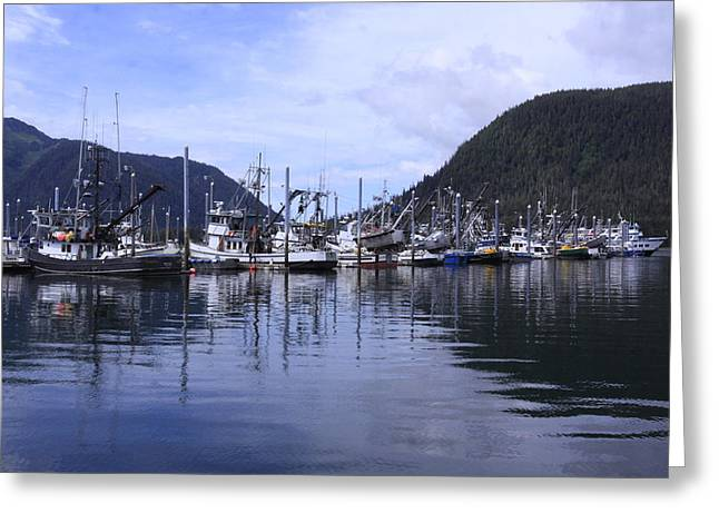 Boats In Harbor Greeting Cards - Harbor Life Greeting Card by Shoal Hollingsworth