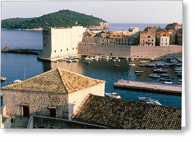 Eastern Europe Greeting Cards - Harbor Of Dubrovnik, Croatia Greeting Card by Panoramic Images