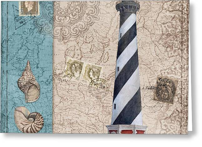Cape Hatteras Greeting Cards - Harbor Point I Greeting Card by Paul Brent