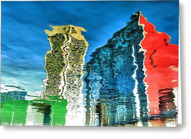 Inner Reflections Greeting Cards - Harbor Reflections II Greeting Card by Steven Ainsworth