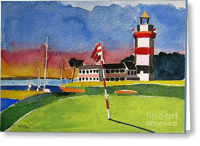 Harbour Town 18th Sc Greeting Card by Lesley Giles