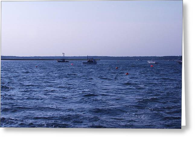 New Hampshire Greeting Cards - Harbor view Greeting Card by Elizabeth Joslin
