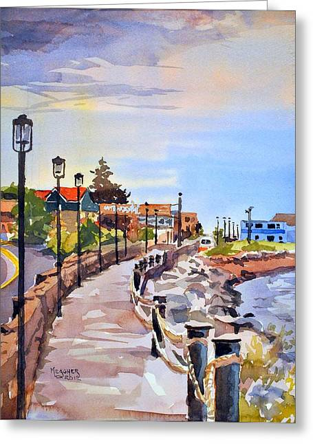 Minnesota Fishing Greeting Cards - Harbor Walk Greeting Card by Spencer Meagher