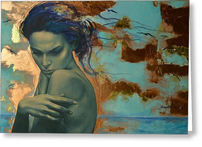 Sadness Greeting Cards - Harboring Dreams Greeting Card by Dorina  Costras