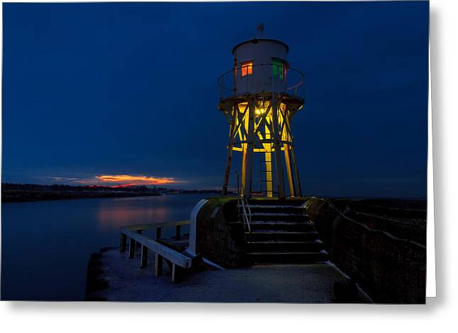 Mood Greeting Cards - Harbour Beacon Greeting Card by EXparte SE
