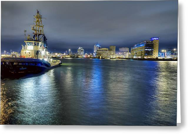 Mood Greeting Cards - Harbour Downtime Greeting Card by EXparte SE